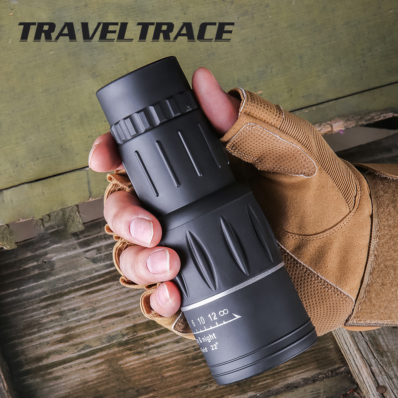 Monocular Night Vision 16X52 Telescope for Smartphone Objective Lens Outdoor Camping HD Eyepiece for Hunting Optics Professional