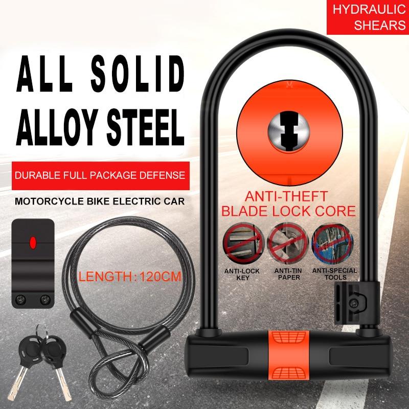 u lock bike candado Key cable bicicleta candado moto bicycle lock motorcycle lock antivol moto anti
