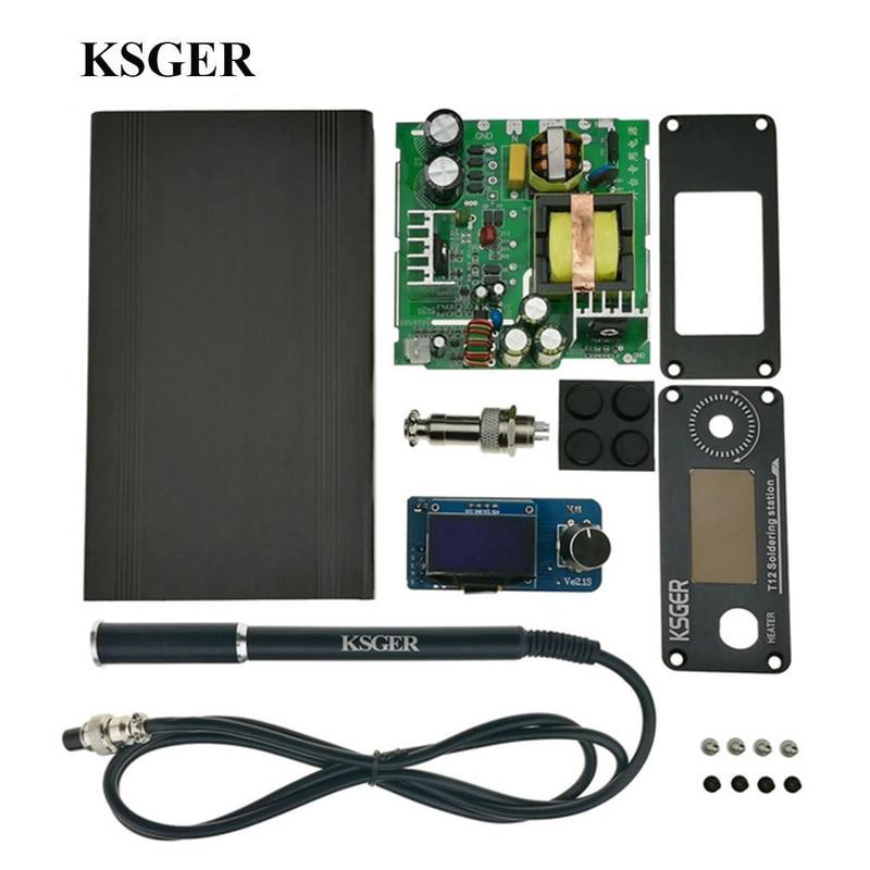 KSGER V2 1S T12 STM32 OLED Digital Temperature Controller Alloy 9501 Soldering Handle with JBC Pump