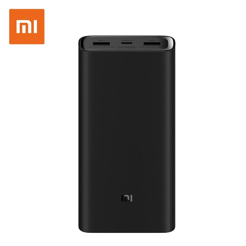 Batterie externe de xiaomi 3 20000 mAh Pro 3 USB type C 45 W Charge Rapide mi Powerbank 20000 batterie externe portable Poverbank PLM07ZM