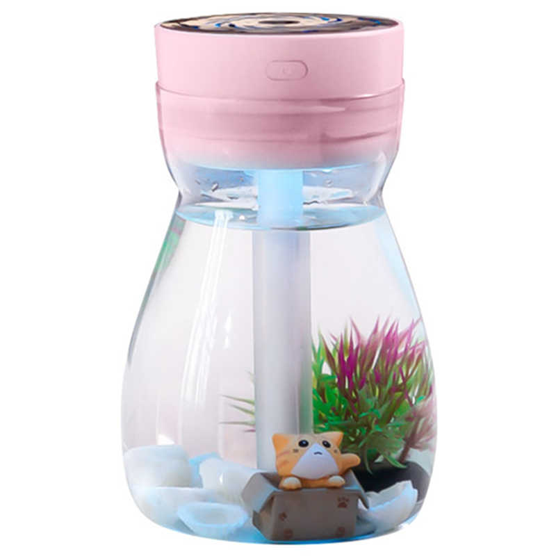 Cute Cool Mist Humidifier Office Bedroom Air Purifier Usb Charging Kawaii Air Humidifier With Led Light Air Moisturizing Bottl