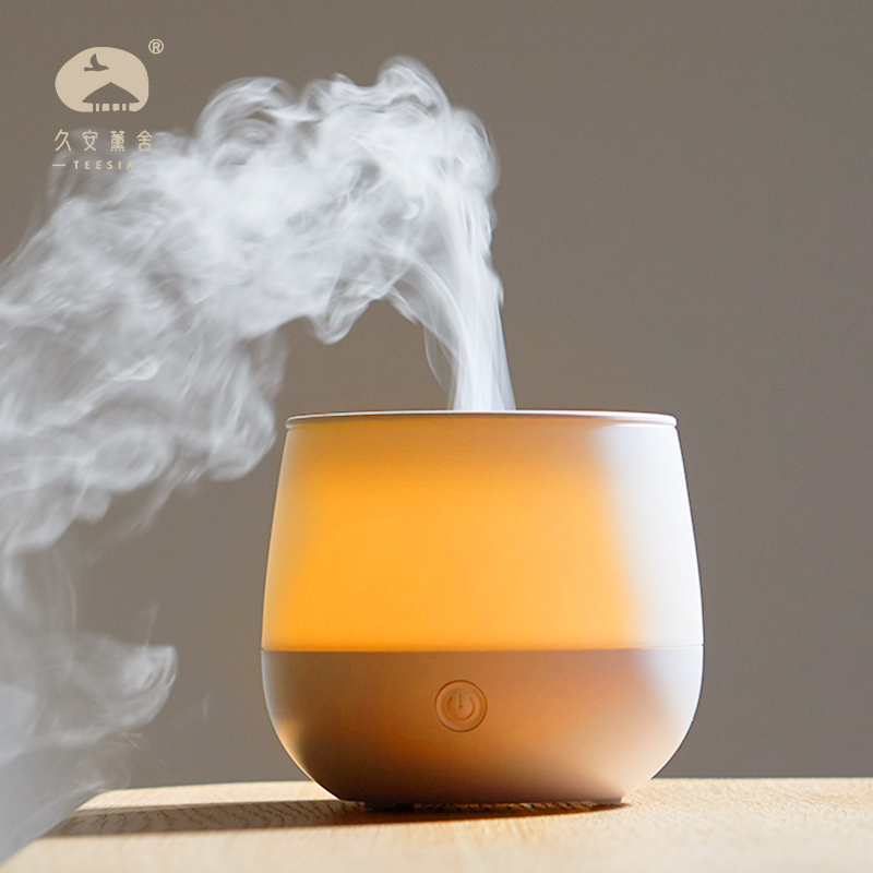 Teesia USB Mini table Air Humidifier Essential Oil Diffuser Ultrasonic Aromatherapy Slient with LED Non cotton