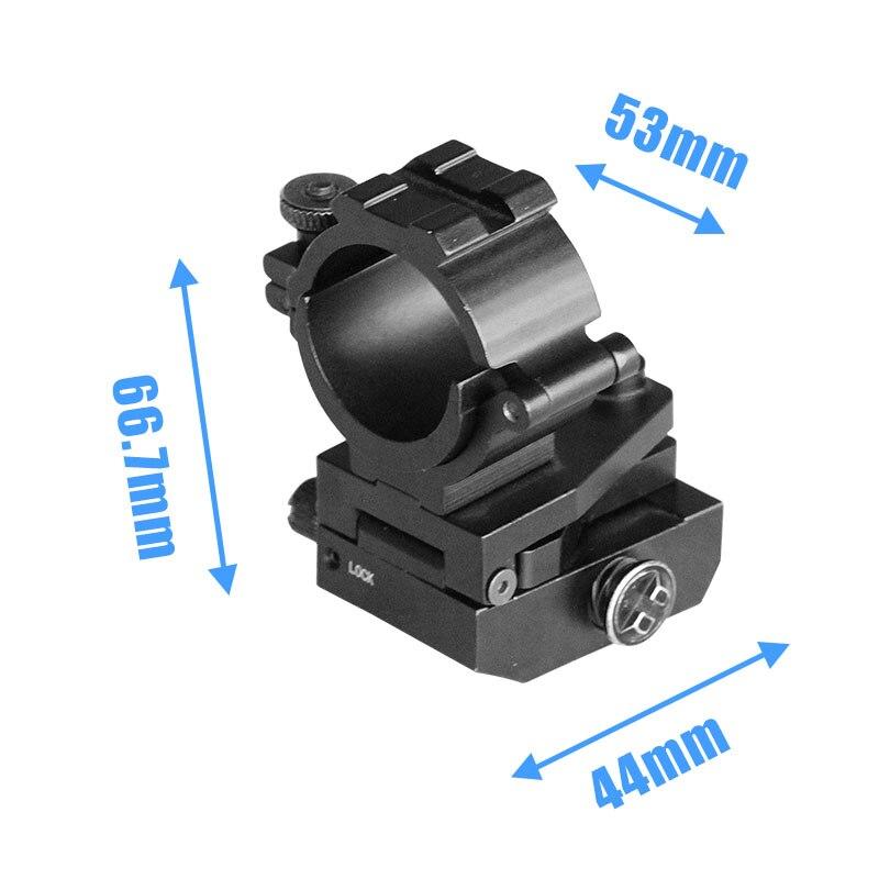 Support tactique réglable 25.4mm Aluminium ak 47 ar15 anneau de montage de portée de profil moyen pour Picatinny/Weaver Rail
