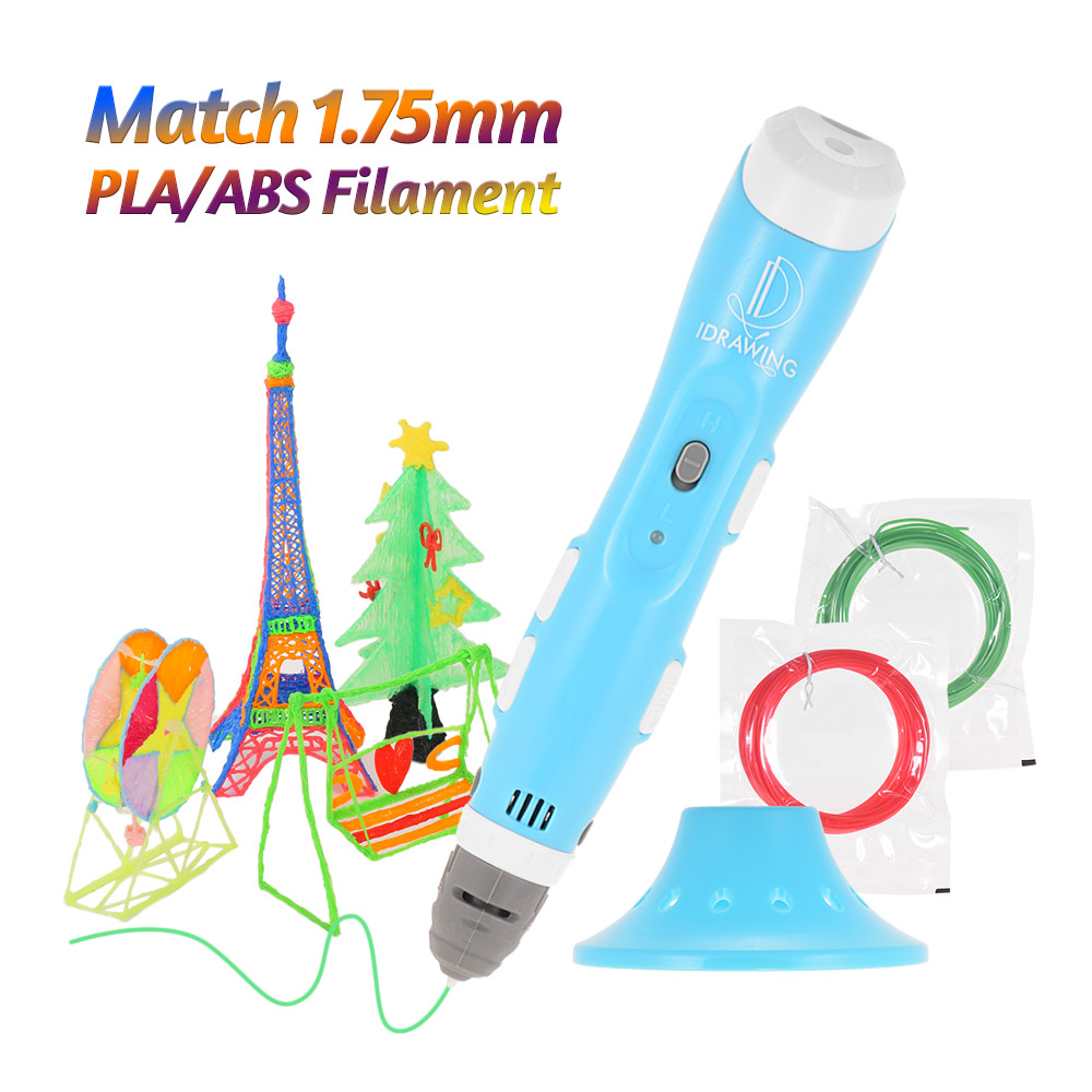 Painting Supplies Idrawing Intellectual 3d Printing Pen Non-clogging Drawing Printer With Pen Guard And Usb Cable Bonus Pla/abs Filaments Punctual Timing
