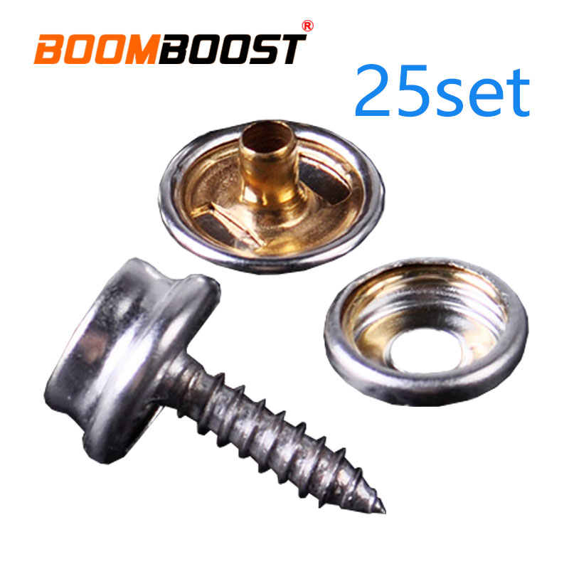 Auto Fastener & Clip Independent Fit For Canvas Tent Canopy Studs Kit 25set Fastener Sockets Boat Marine Snap Button Black/sliver Stainless Steel Marine Cover 2019 Latest Style Online Sale 50%