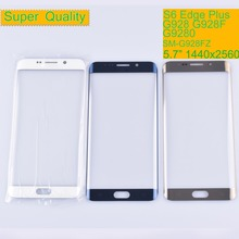 цена на 10Pcs/lot For Samsung Galaxy S6 Edge Plus G928 G928F Touch Screen Front Glass Panel S6 Edge+ Outer Glass Lens SM-G928F