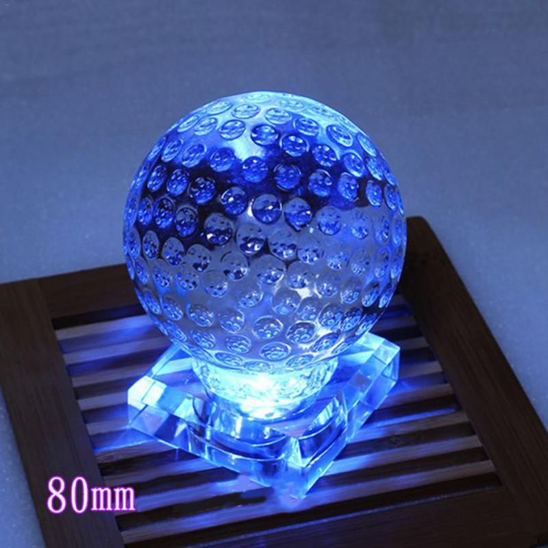 Crystal Glass Ball Golf Home Decoration Gift Ornament  Innovative Trophy Accessories  Laser Engraved Globe Miniature Model trophy