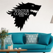 A+ волк Игра престолов наклейки на стену декоративные голова окна автомобильные виниловые наклейки