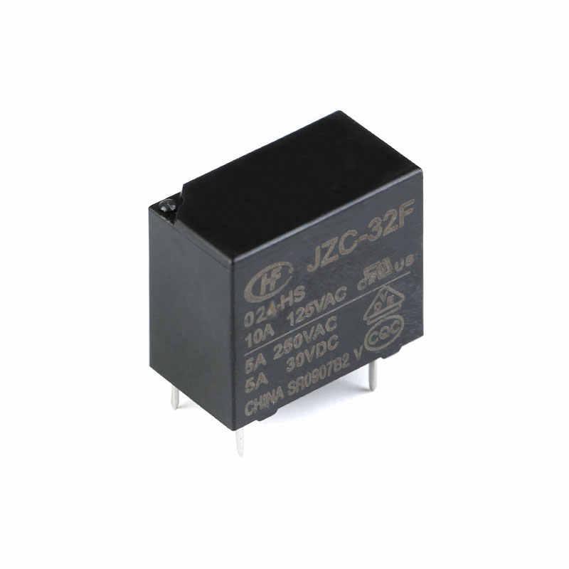 5 PCS/lot Relais De Puissance HF32F JZC-32F-005-HS JZC-32F-012-HS JZC-32F-024-HS 5A 250VAC 4PIN 5V 12V 24V