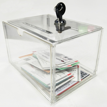 WSHYUFEI Счетчик акриловая коробка для сбора средств, perspex коробка для сбора средств с замком для ключей Ygb-007