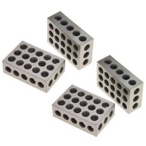 "Image 3 - 2pcs/set Hardened Steel 25 50 75mm Blocks 0.0001"" Precision Matched Machinist 123 Milling Tool 23 Holes 1 2 3"" block gauge"