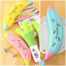 Simple Creative Super Meng Silicone Large Capacity Banana Onion Student Pen Bag 0 Wallet Gift For Kids Children Office
