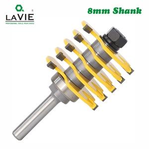 Image 3 - LAVIE 1 قطعة 8 مللي متر عرقوب 3 الأسنان للتعديل إصبع مشترك راوتر بت تينون قاطعة المطحنة الصناعية الصف للخشب أداة MC02038