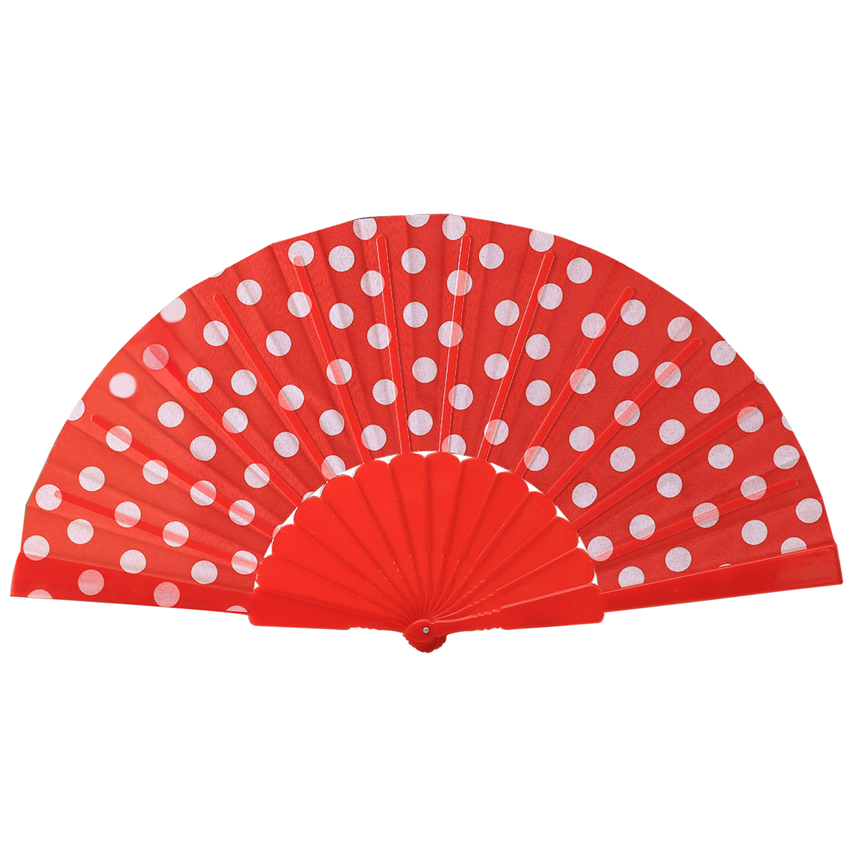 Spanish Fan Folding Hand Held Dance Pattern Party Wedding NEW Red And White