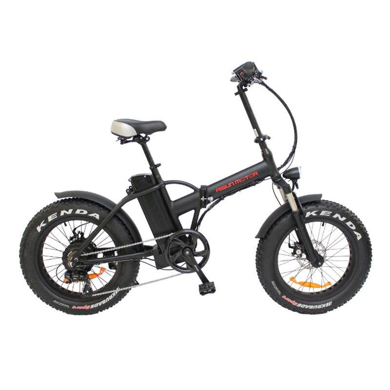 20 pouces Vélo Électrique Graisse Neige Pneu Vélo 500 w Haute Vitesse Moteur Ebike 48 v batterie li-ion 4.0 Pneus Fold vtt électrique