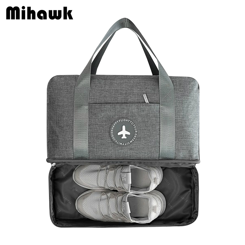 Mihawk Luggage Travel Bag Waterproof Portable Double Layer D