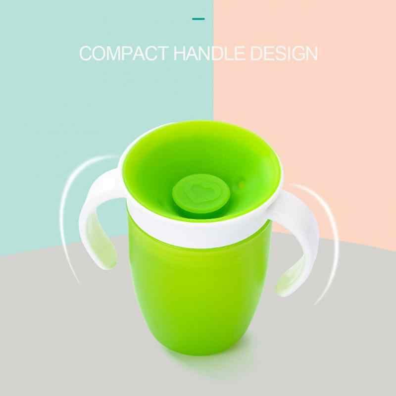 360 องศาสามารถหมุนได้การเรียนรู้เด็กดื่มถ้วยคู่ฝาปิด Leakproof ทารกถ้วยน้ำขวด