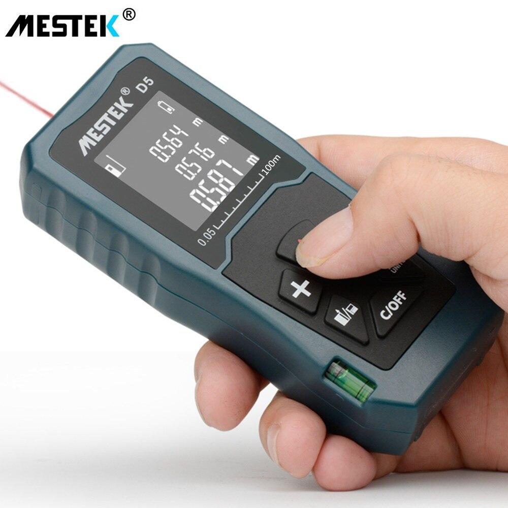 MESTEK D5 100M Laser Distance Meter Laser Rangefinder Area Volume Measuring Reference Adjusting Data Record Rangefinder