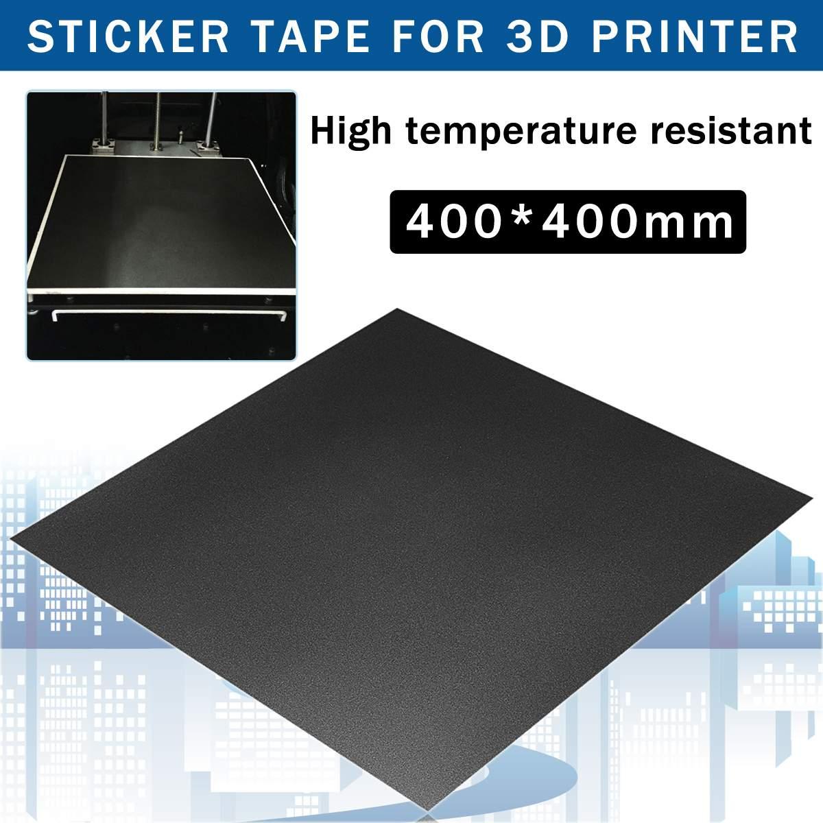 1Pcs Black 400 X 400mm Sticker Tape For 3D Printer Hot Bed Aluminum Plate Compound Plastic 15.75 X 15.75 Inch 3D Printer Parts