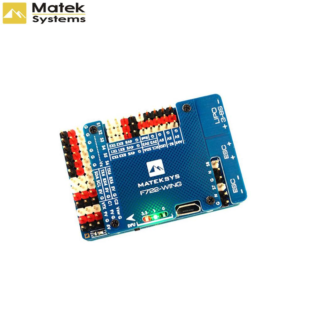 Matek Systems F722-WING STM32F722RET6 Flight Controller Built-in OSD For RC Airplane Fixed Wing RC Drone FPV Quadcopter AccsMatek Systems F722-WING STM32F722RET6 Flight Controller Built-in OSD For RC Airplane Fixed Wing RC Drone FPV Quadcopter Accs