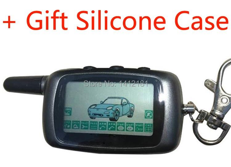 A9 2-weg LCD Fernbedienung Schlüssel Fob Keychain für Fahrzeug Sicherheit Zwei weg auto alarm Anti-diebstahl system Twage StarLine A9/A6