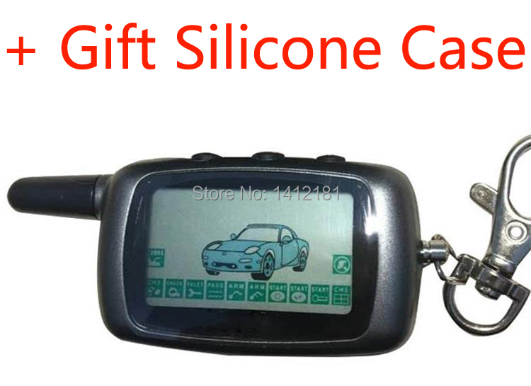 A9 de 2 LCD llave de Control remoto Fob llavero para vehículo de seguridad dos coche Anti-robo con alarma sistema de Twage StarLine A9/A6