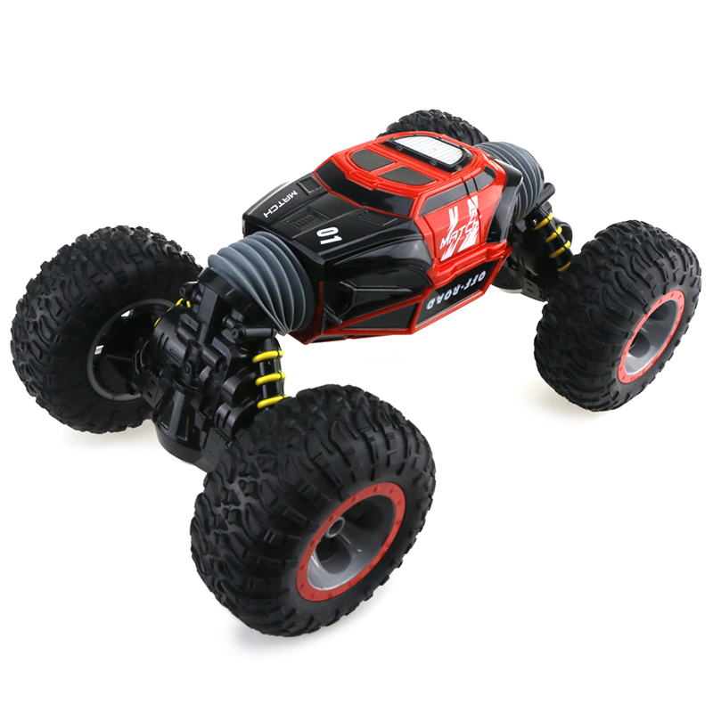 Xmas Gifts RC Car 1/16 4WD Double-Sided Remote Control Car Vehicle Flat Off-Road Mode Stunt Car With Remote Controller For Fun