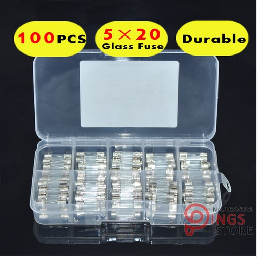 10Pcs//set 5x20mm Quick Blow Glass Tube Fast Acting Fuse 1-20A LY