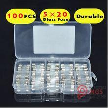Маленький Предохранитель 5*20 мм набор стеклянных предохранителей