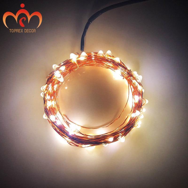 USB 5v ohutu pinge 10m LED vaskstring valguse jõulude kaunistamiseks - Puhkusevalgustus - Foto 1
