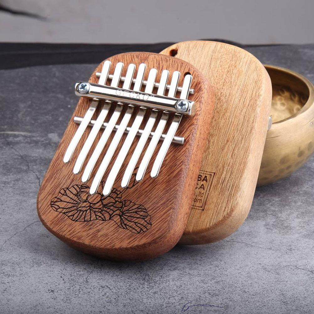 GECKO 8 Key Mini Kalimba African Camphor Wood Mahogany Thumb Piano Finger Percussion Keyboard Mbira Sanza Musical Instrument