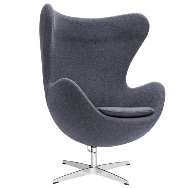 Modholic Arne Jacobsen Style Egg Lounge Chair Gray In Chaise Lounge