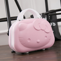 Cute Hello Kitty Girl Tote Suitcase Child Lovely Luggage Case Hardside Box Travel Weekend Clothes Toiletry Organizer Accessories