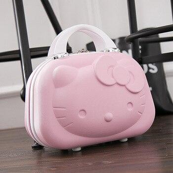 45c3622cd Lindo Hello Kitty niña bolso maleta lindo equipaje Hardside caja de viajes  de fin de semana