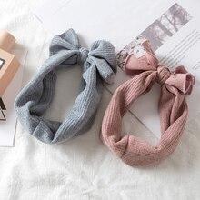 50/pc winter warm newborn turban stretch knit woolen hair ba