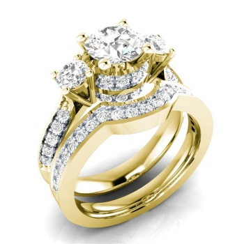 14K Gold Peridot Diamond Ring Set Jewelry for Women Anillos De Bizuteria anillos mujer Gemstone bijoux femme Jewelry Rings men 14k rose gold 2 carat diamond ring for women fashion 925 silver color jewelry pure bizuteria gemstone anillos de wedding ring