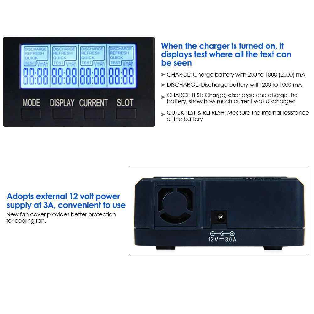 BEESCLOVER الرقمية شاحن بطارية ذكي أوبوس BT-C3100 V2.2 4 فتحات AA/AAA LCD شاحن بطارية أوبوس BT-C3100 V2.2 r29