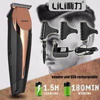 LILI Professional Hair Trimmer Cordless Rechargeable Electric Shaver Fast Charge Hair Clipper Hair Cutting Machine Barber