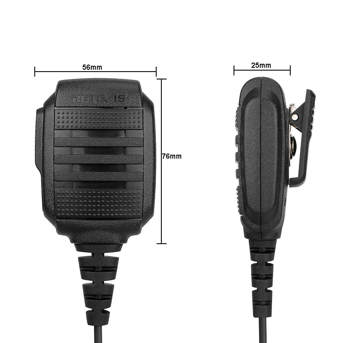 Retevis RS-114 IP54 Waterproof Speaker Microphone For Retevis H777 RT-5R RT22 Baofeng UV-5R UV-82 888s Walkie Talkie Accessory