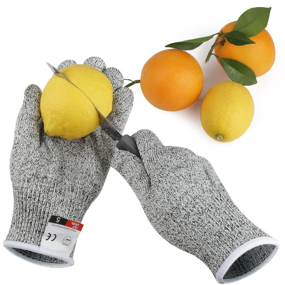 Level 5 Cut-proof Gloves Kitchen Glass Factory Slaughter Woodworking Anti-cutting Gloves Anti-Cut Gloves Self Defense Supplies