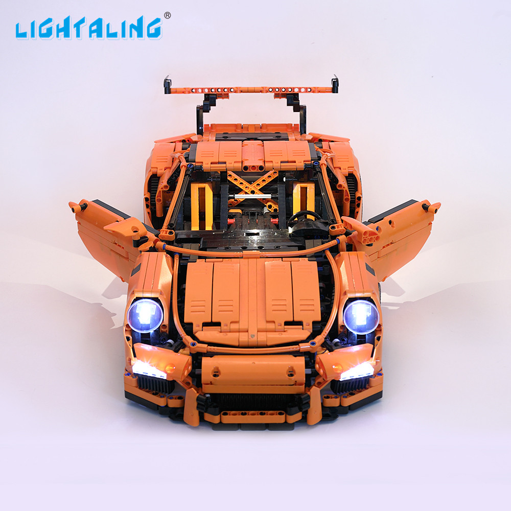 Lightaling Light Set For Technic Series 911 GT3 RS LED Light Kit Compatible With Porsche 42056 And 20001 (NOT Include The Model)