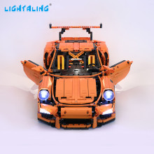 Lightaling Light Set For Technic Series 911 GT3 RS LED Kit Compatible With Porsche 42056 and 20001 (NOT Include The Model)