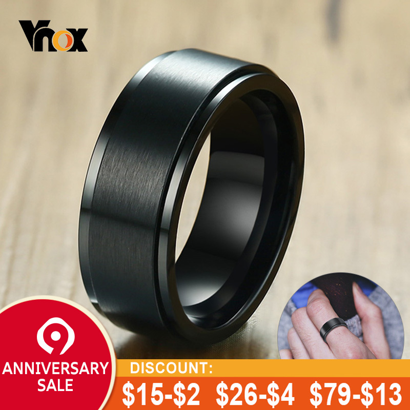 Rings Professional Sale Zorcvens Mens Rings Stainless Steel Fashion Black Camera Lens Ring For Men Jewelry Spinner Band Photographers Accessories Beautiful In Colour
