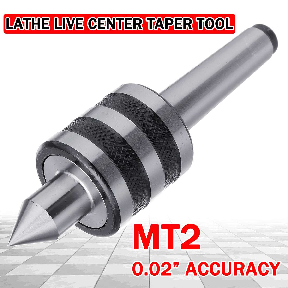 MT2 0.02inch Live Lathe Milling Center High Accuracy For Lathe Machine Revolving Centre Triple Bearing Drill Bit Mechanic Tools