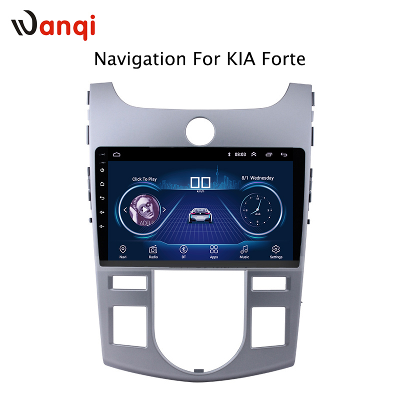 9inch android 8.1 Car Radio DVD Player for KIA forte 2009 2014 GPS Navigation support DVR Camera Rear Mirror link