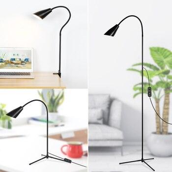 Multifunctioneel Verstelbare LED Floor Light Klem Dimbare Reading Desktop Lamp Statief Eenvoudige Stijl Desktop Licht Voor Slaapkamer