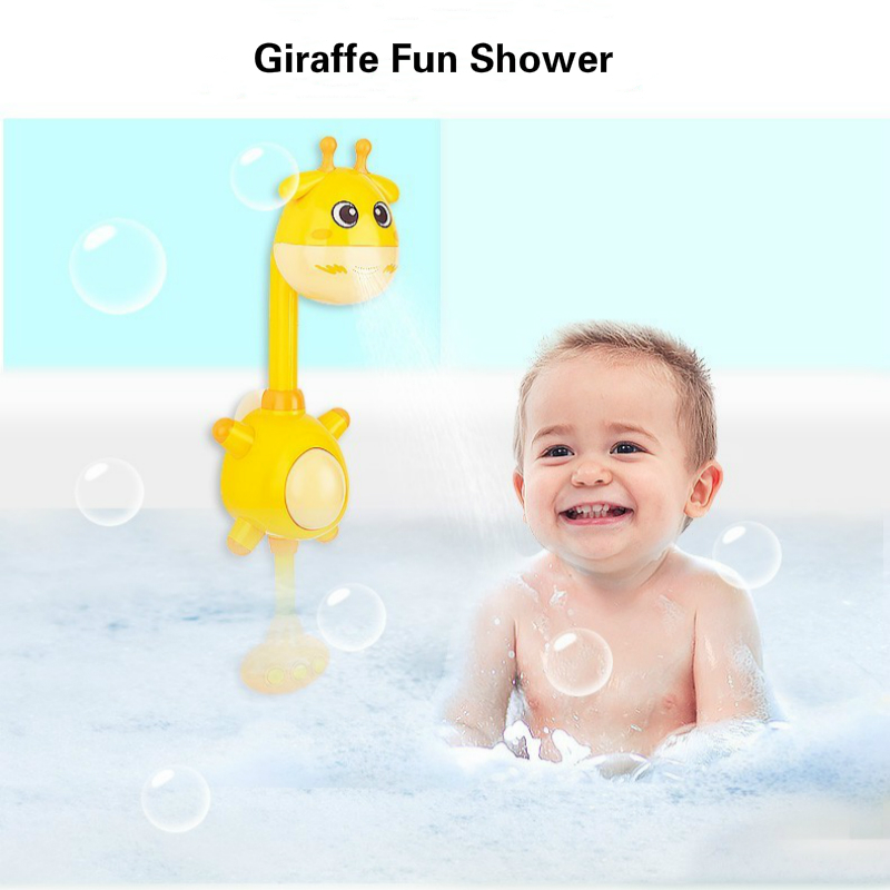 Nouvelle girafe Fun nouveau-né bébé baignoire jouets bec verseur Recien Nacido Bebek enfants salle de bains pliante Spray douches baignoire bain outil
