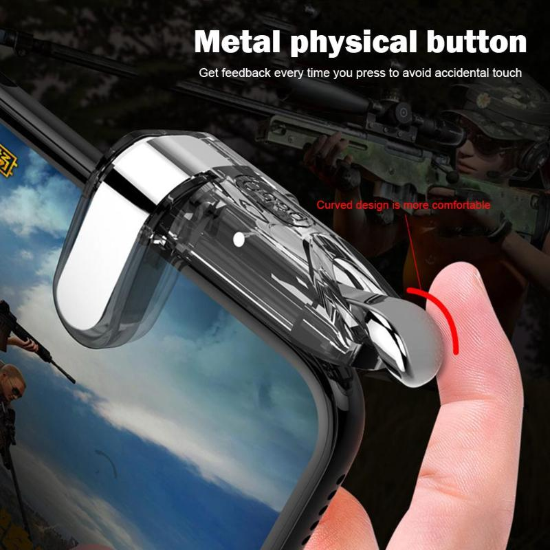 VODOOL K03 Mobile Game Gamepad For PUBG Mobile Gaming Trigger Fire Button Joysticks Aim Key L1 R1 Shooter Controller For iPhone