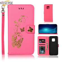 KISSCASE Butterfly Pattern Case For Huawei Mate 20 Lite 10 Pro Wallet Stand Cover P20 P10 P9 P8 Funda Capa