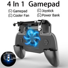 Mobile GamePad For PUBG Cooler Cooling Fan L1 R1 Shooter Controller Handle Joystick Metal Trigger with 2000/4000mAh Power Bank